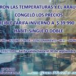 Hotel El Araucano congeló la tarifa para Habitaciones Singles y Dobles